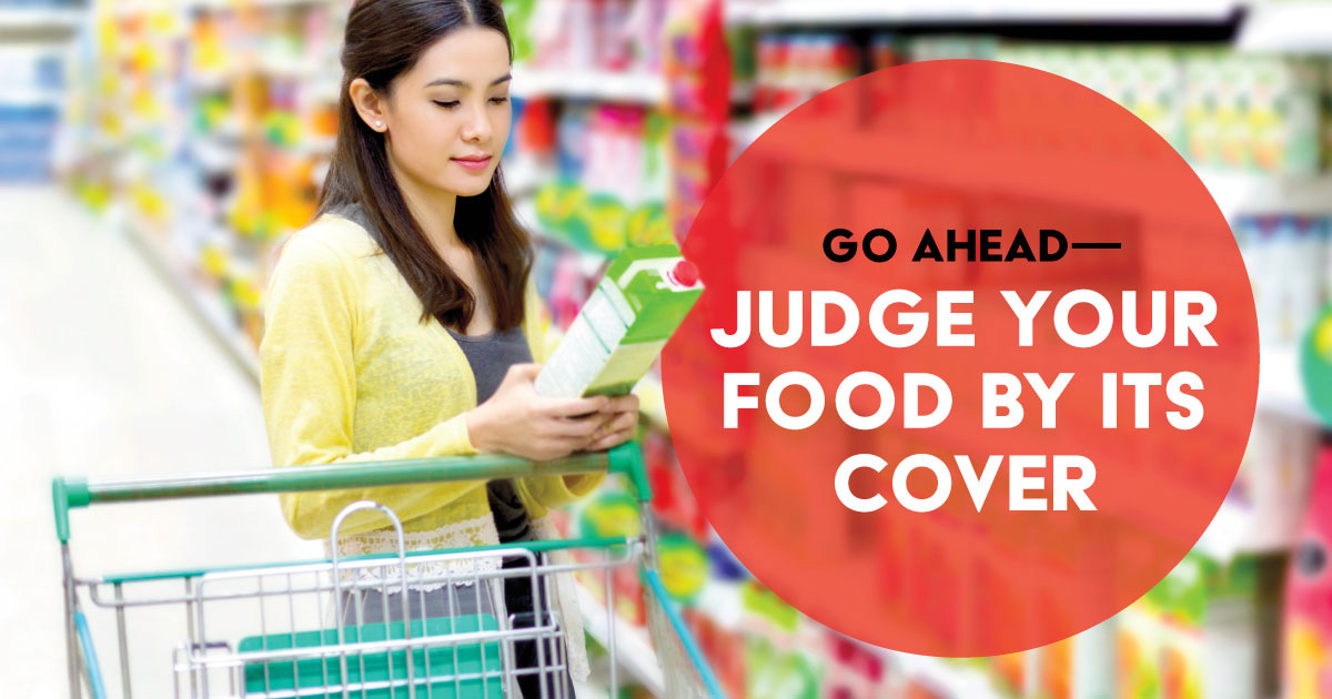 Go ahead—judge your food by its cover.
